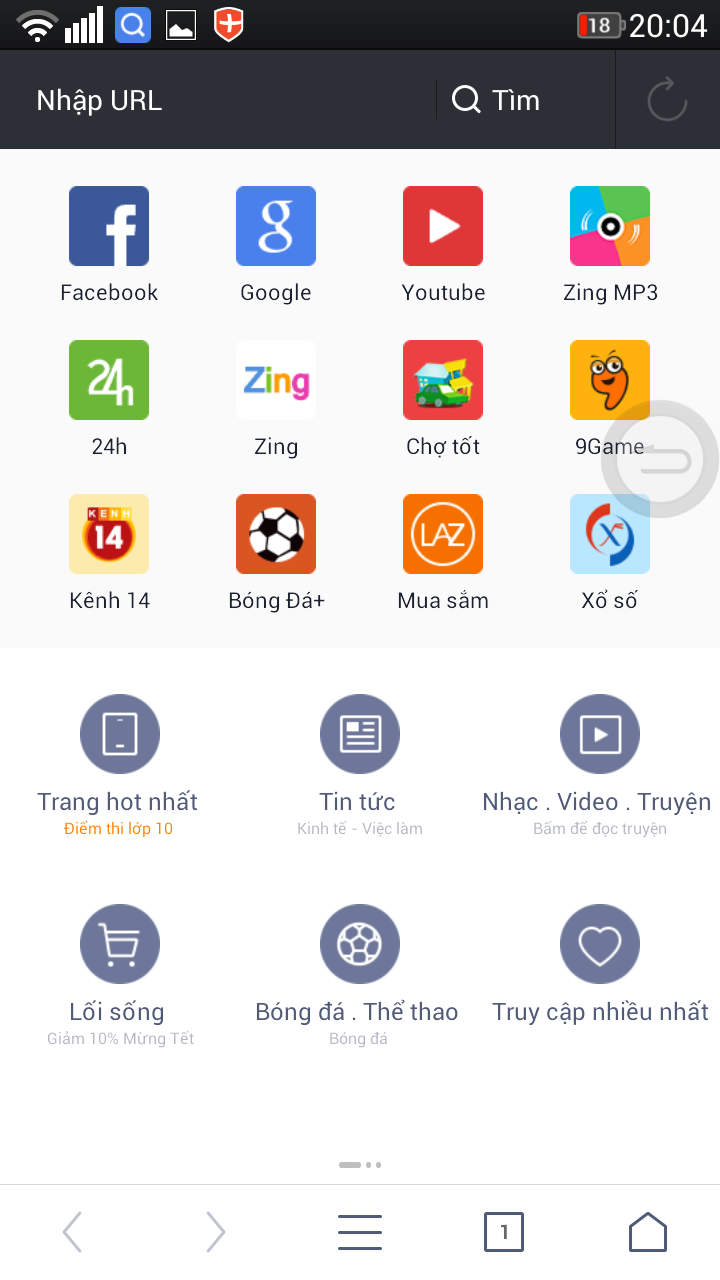 Uc browser 10 6 0 - Tải uc browser android miễn phí